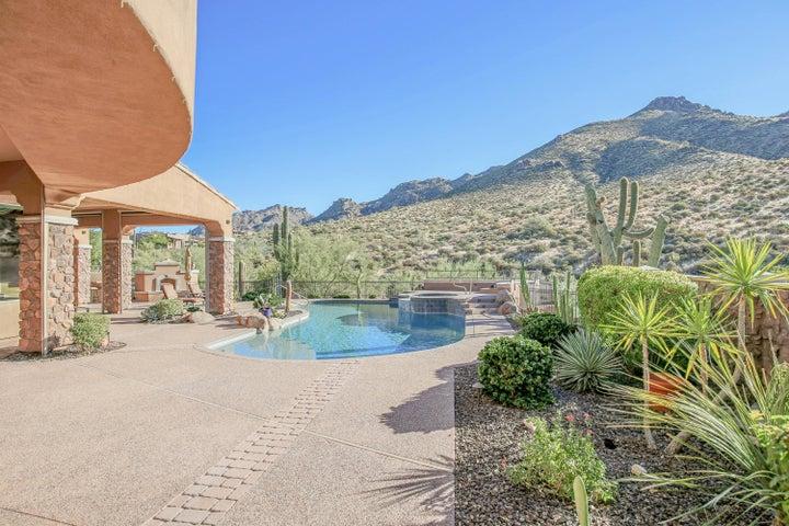 Desert landscape surround this beautiful home.