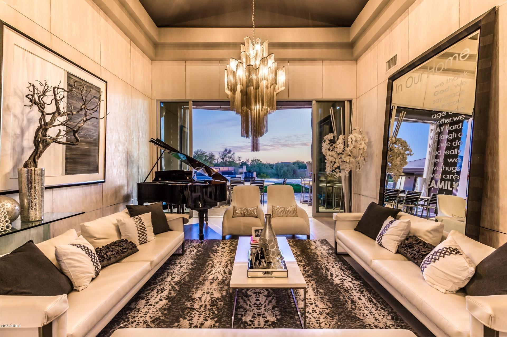 Formal Living Room Twilight