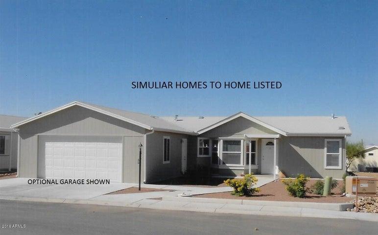 Simuliar Exterior Elevation with Optional Garage. 20' x 24' Carport is Standard.