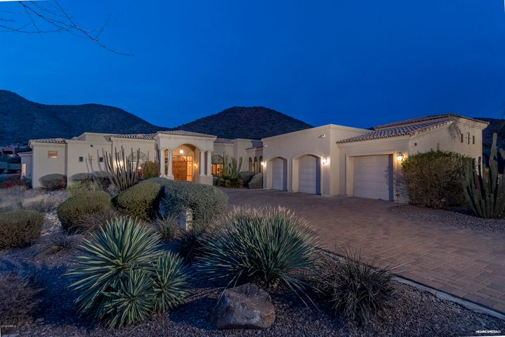 Guard gated Ancala Country Club, huge corner lot and breathtaking mountain views.