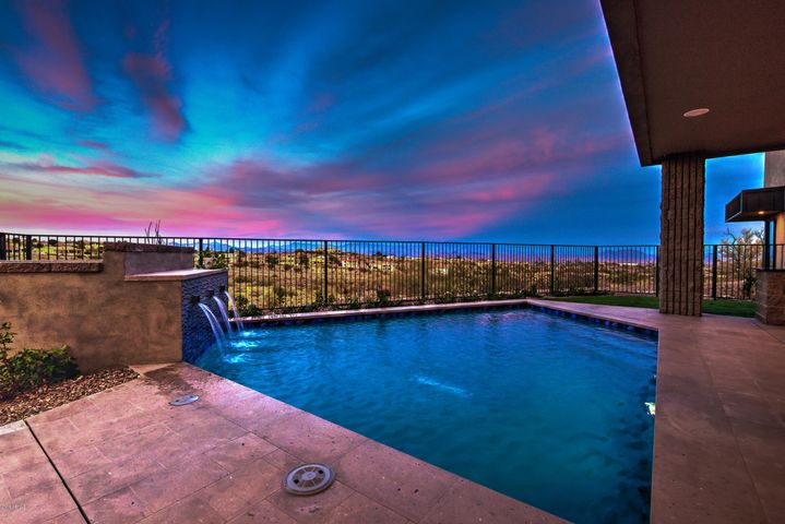 Views..Views..and More Views from this private oasis with built in BBQ, Surround Sound and Romantic access to the Master Suite.