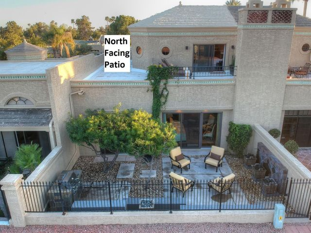 North Facing Patio and Master Suite Balcony