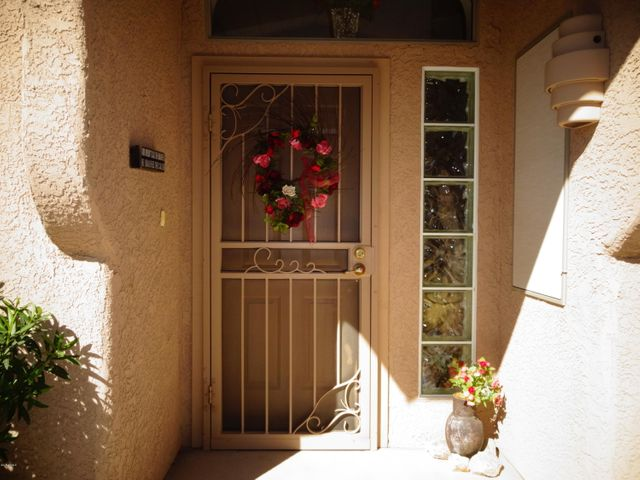 Entry has a custom security door and upgraded glass block window.