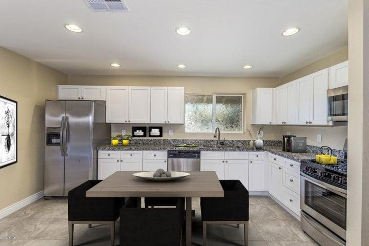 Kitchen furnished virtually