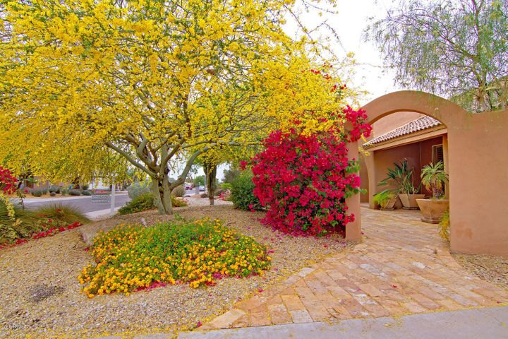 When you walk into the home you are greated by beautiful landscaping!