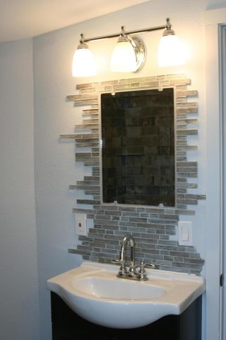 Master Bath Vanity and Custom Mirror