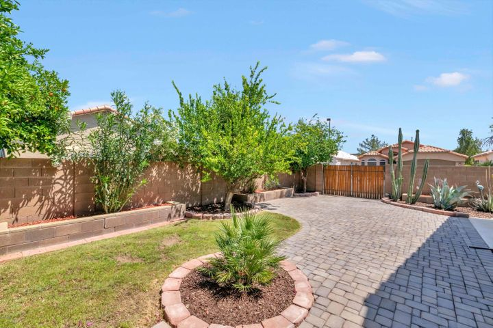 This small grassy area could be ideal with artificial grass if you wanted even less maintenance.