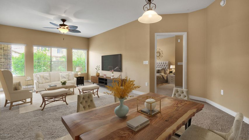 Living Room Virtually Staged