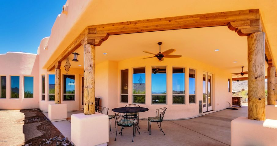 Rear covered post and beam porch to enjoy the Incredible Views!