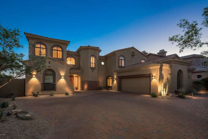 Beautiful front elevation with paver driveway