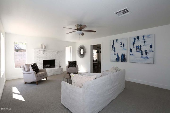 The Heart of the Home Family Room with Gas Fireplace