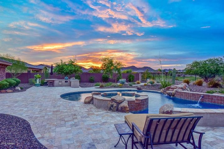 Spacious Travertine Decking, Large Spa, & Massive Private Pool