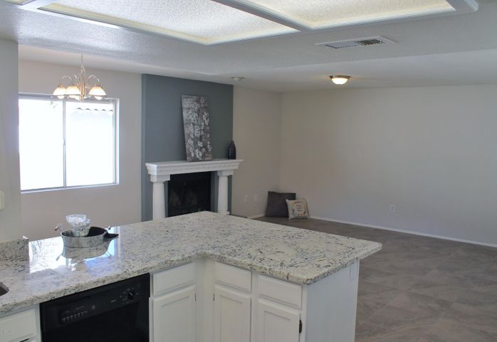 Kitchen into Family Room