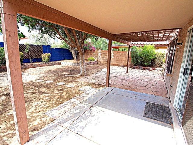 Back Patio w shaded backyard