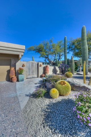 Professionally landscaped. Lush, mature desert setting.