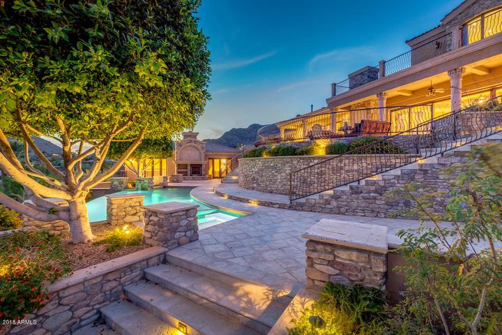 Gorgeous Stone-work, Pavings, & Grounds - The Feel of a Mediterranean Castle!