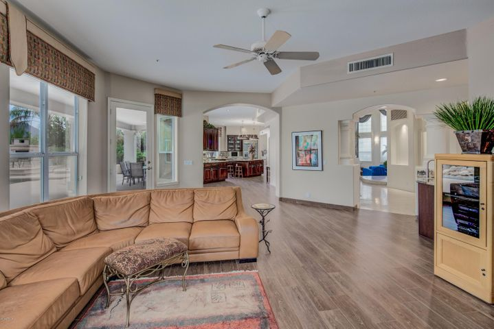 Spacious and open family room with plenty of natural light