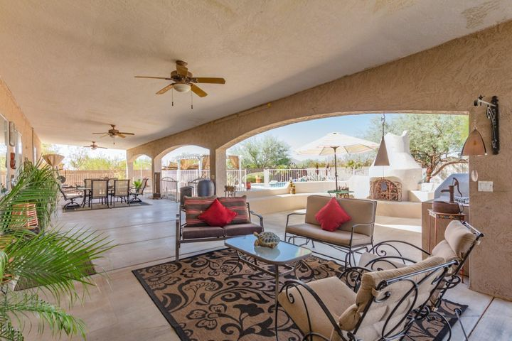 Oversize Extended Covered Patio!