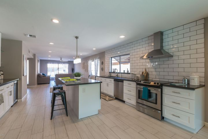 A True Bright, Open Concept, Kitchen And Living Space.