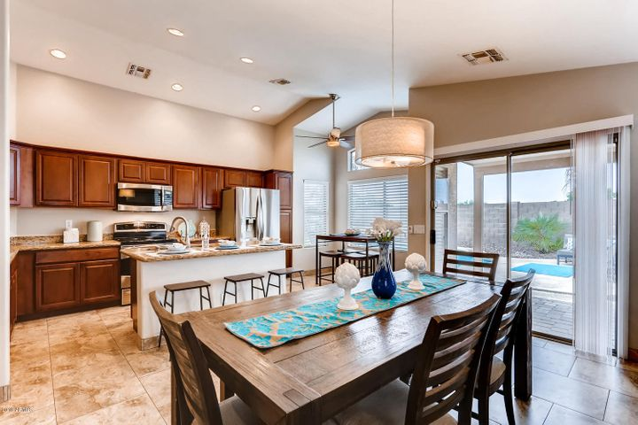 Spacious, Upgraded Kitchen overlooking Sparkling Pool