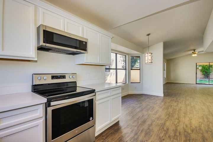 All new stainless appliances... including microwave and dishwasher!