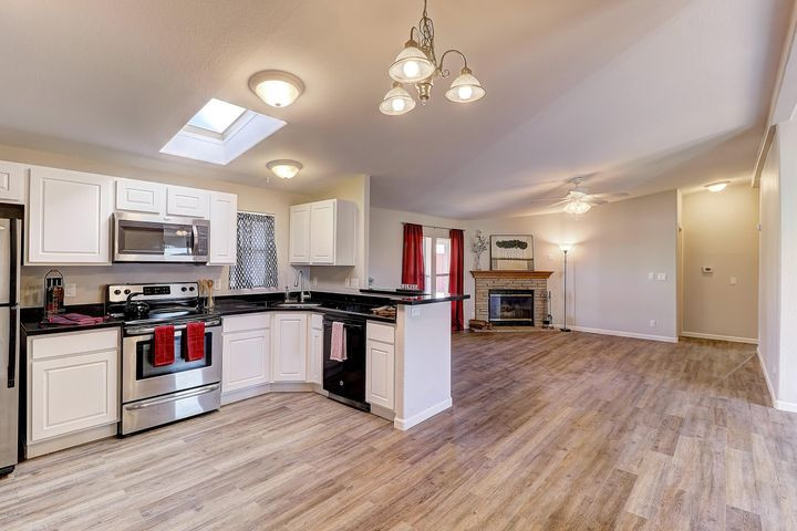 Beautifully renovated open floor plan