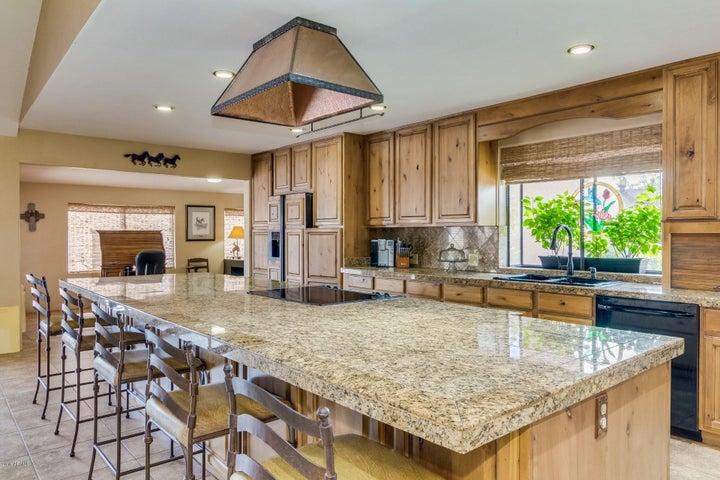 HUGE Granite Tile Island Kitchen.