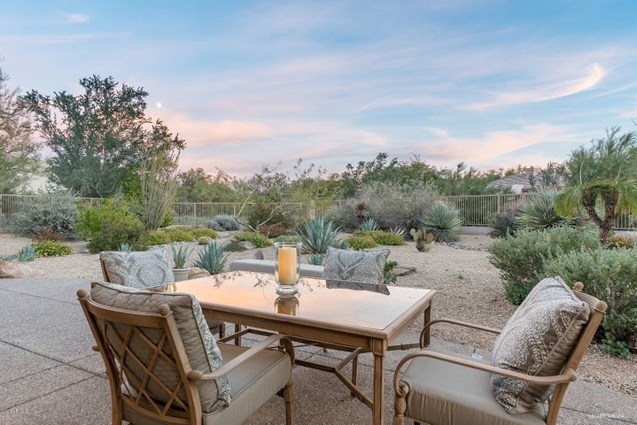 Enjoy outdoor dining in this serene location.