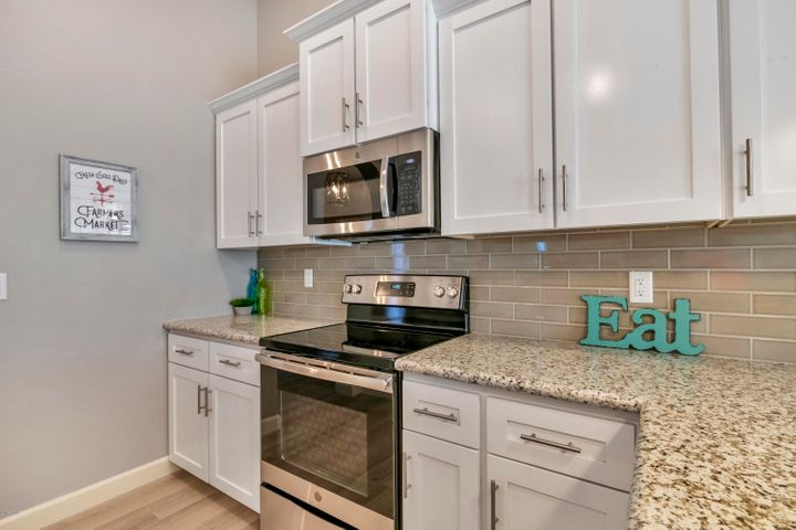 Kitchen has All New Stainless Steel GE Appliances