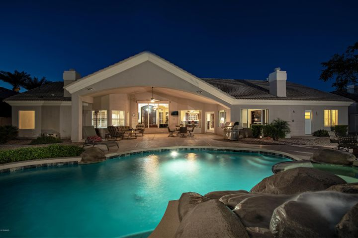 Take a night time swim or wine and dine by the pool