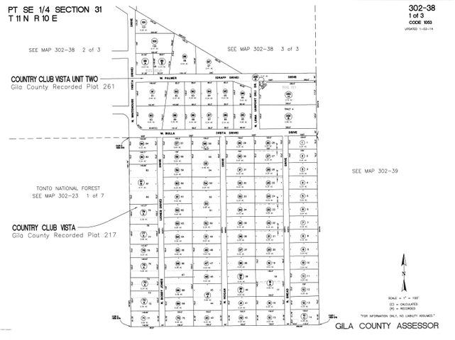 601 N BOBBY JONES Drive, Payson, AZ 85541 | Cactus Mountain ... Gila County Essor Maps on