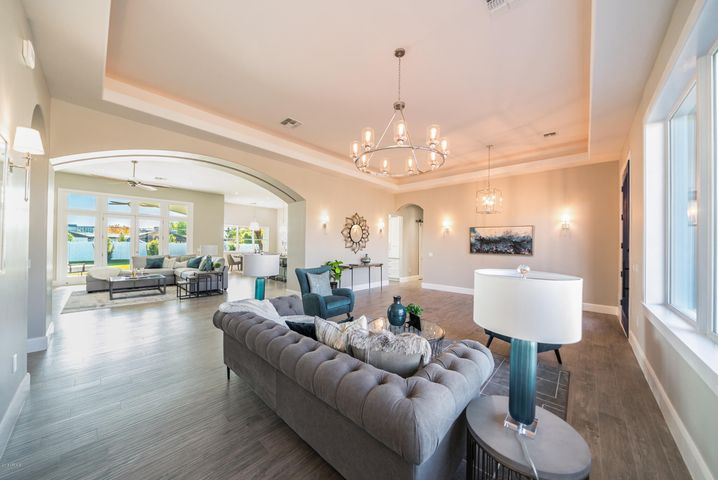 Formal Living - Cove Lighting For A Bold Statement of Elegance