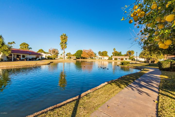 Step out your door and take a stroll around the lake.