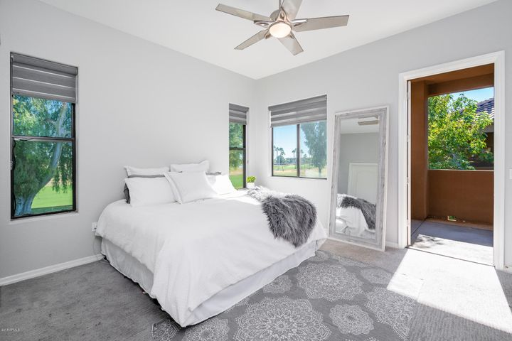 Enjoy Golf Course Views while relaxing in bed!