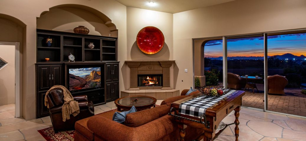 Family Room with Gas Fireplace and built-ins