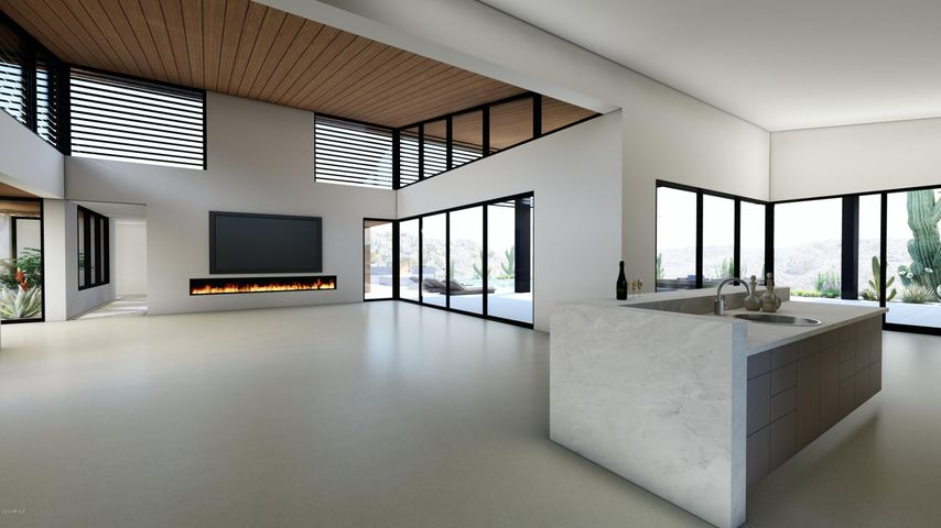 Architect's Conceptual Rendering Grand Room & Bar