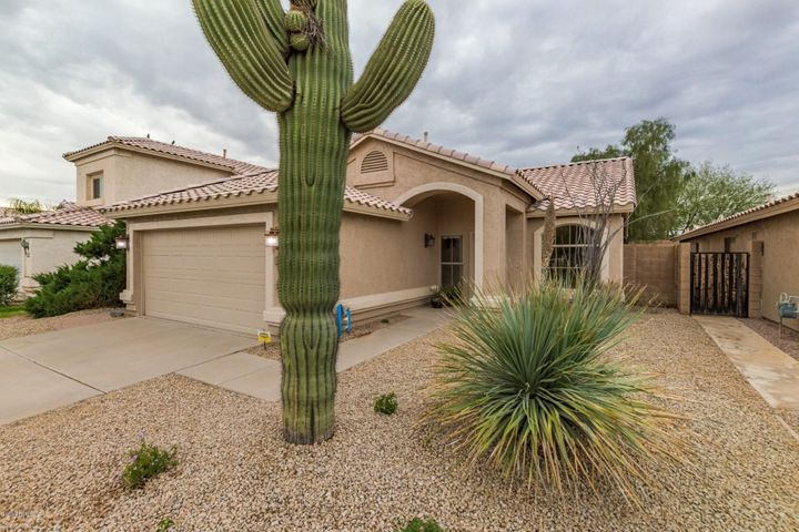 Welcome to your new home! Low maintenance desert landscaping in both the front and the back.