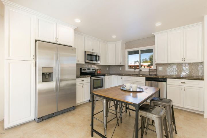 Custom kitchen that has been remodeled top to bottom with high end finishes