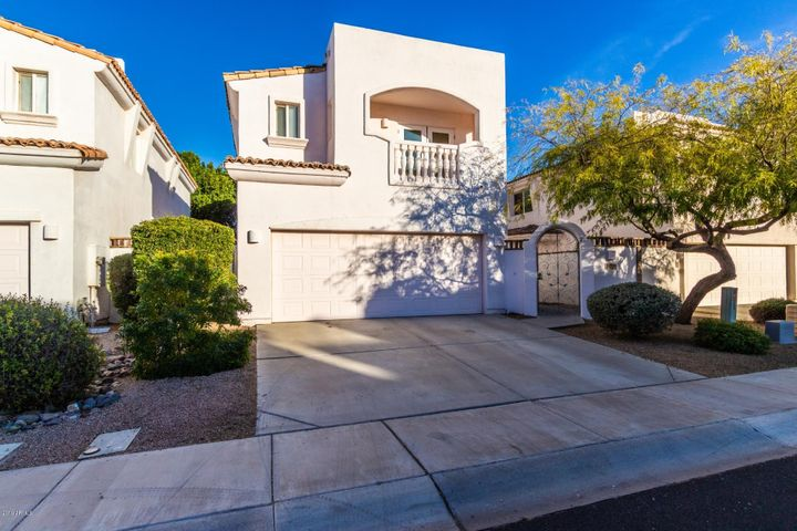 Gated Chandler Community, 14 Homes in Adobe Towers, Wrought-Iron Front Entry