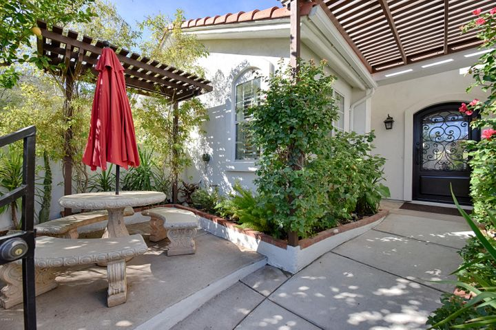 Gated front courtyard entrance.