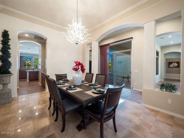 Formal Dining with Gorgeous Crystal Chandelier