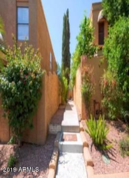 Walkway from street back to secluded unit 1 entrance