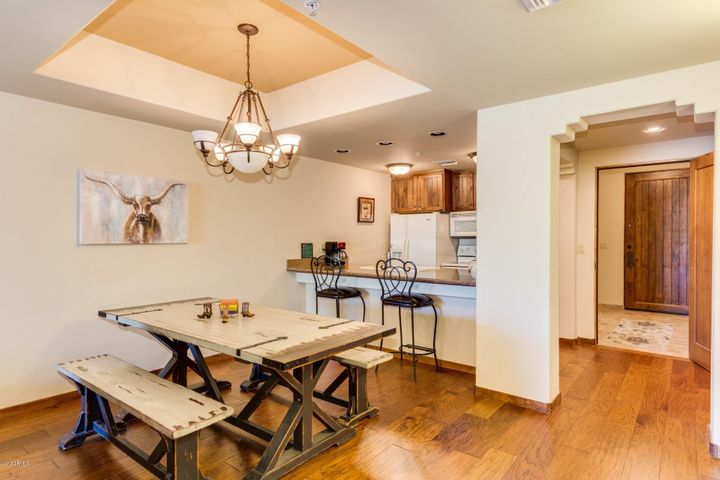 Beautiful wood floors with a southwestern motif in the home and community