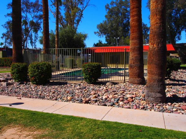A community pool just steps away from your front door.