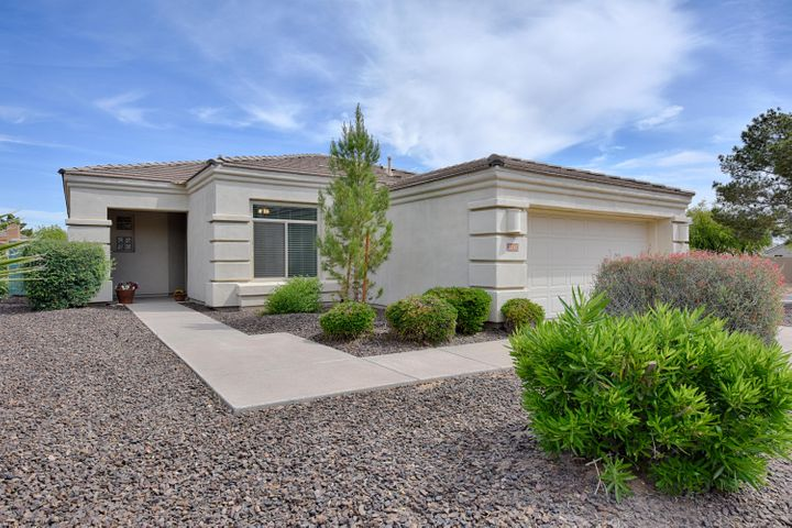 Excellent curb appeal and easy care landscape that is maintained by the HOA