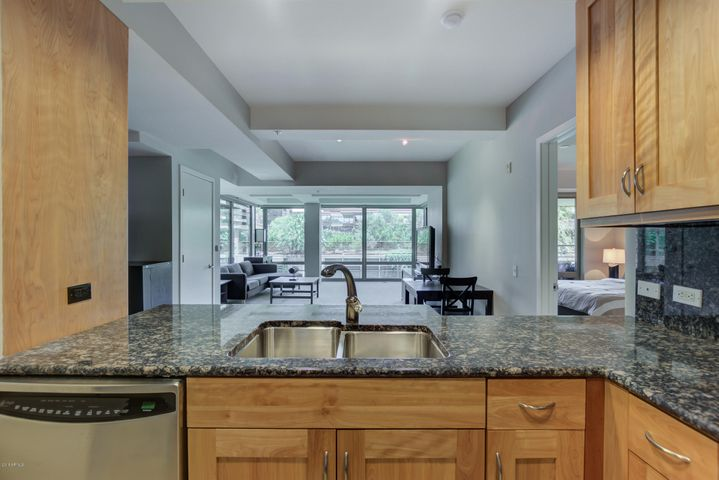 Granite counters in Kitchen and Bath.