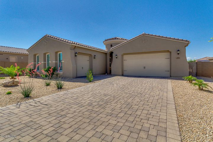 Extended paver driveway