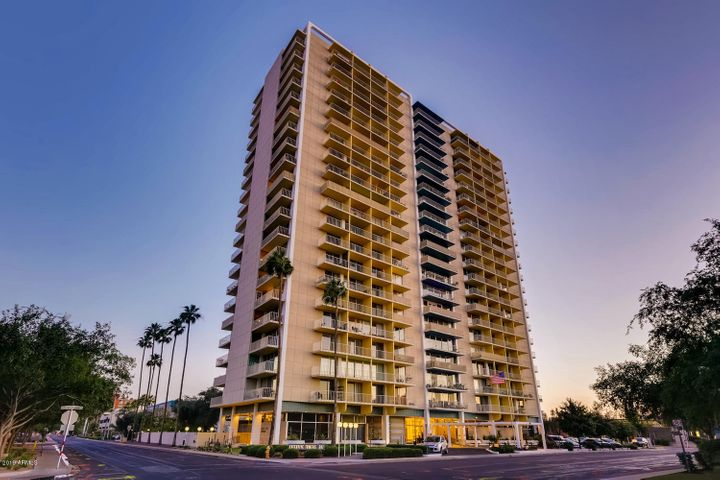 Architect Al Beadle designed this Mid-Century high rise. On National Historic Registry