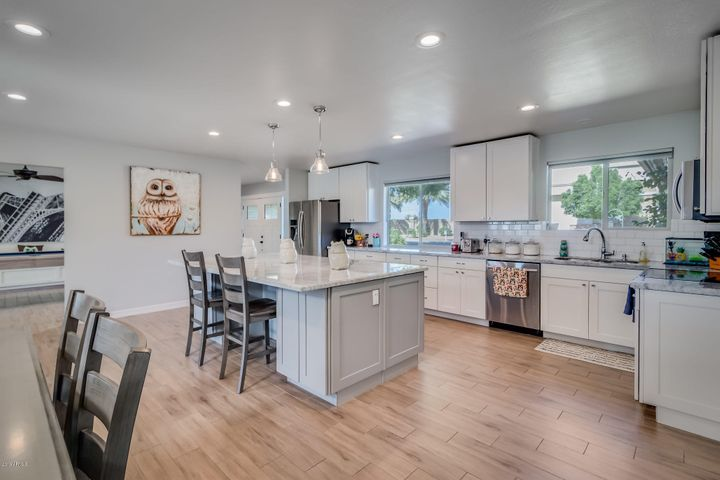 Spacious kitchen with ample storage
