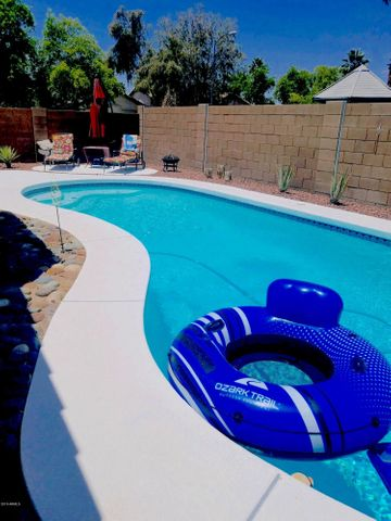 Sparkling, cool, refreshing, pool. Enjoy, Spring, Summer, Fall. Easy care. Lots of fun